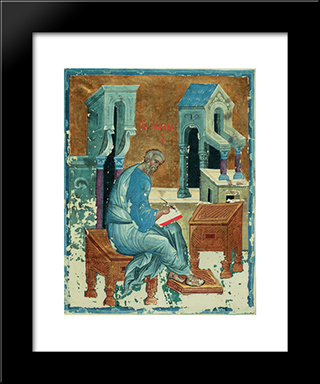 St. Matthew The Evangelist:  Modern Black Framed Art Print by Andrei Rublev