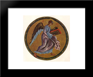 The Angel Of Matthew:  Modern Black Framed Art Print by Andrei Rublev