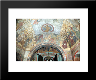 The Last Judgement:  Modern Black Framed Art Print by Andrei Rublev
