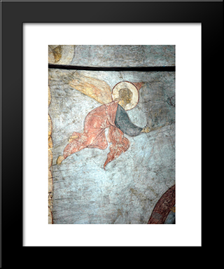 The Last Judgement Angel:  Modern Black Framed Art Print by Andrei Rublev