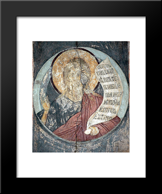 The Last Judgement Isaiah:  Modern Black Framed Art Print by Andrei Rublev