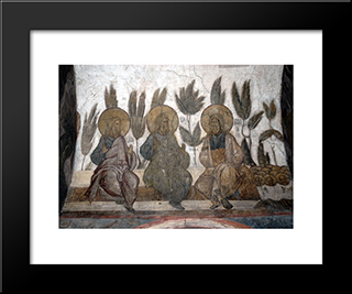 The Last Judgement Jacob, Abraham And Isaac In Heaven:  Modern Black Framed Art Print by Andrei Rublev