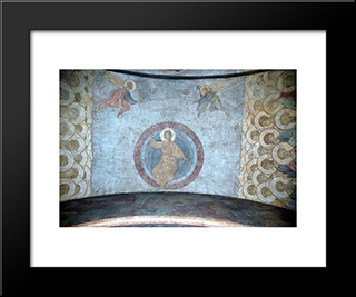 The Last Judgement Jesus Christ:  Modern Black Framed Art Print by Andrei Rublev