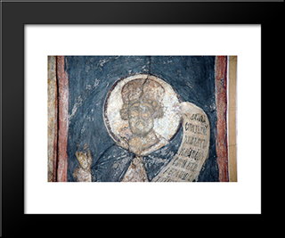 The Last Judgement King David:  Modern Black Framed Art Print by Andrei Rublev