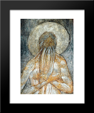 The Last Judgement Macarius Of Egypt:  Modern Black Framed Art Print by Andrei Rublev