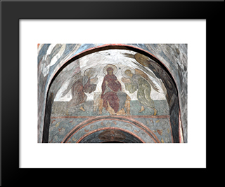 The Last Judgement Mother Of God With Angels:  Modern Black Framed Art Print by Andrei Rublev