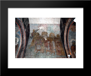 The Last Judgement Procession Of The Righteous To Heaven:  Modern Black Framed Art Print by Andrei Rublev