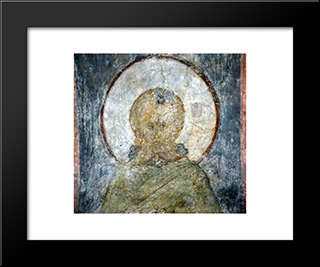 The Last Judgement Sabbas The Sanctified:  Modern Black Framed Art Print by Andrei Rublev