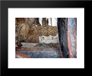 The Last Judgement The Souls Of Righteous:  Modern Black Framed Art Print by Andrei Rublev
