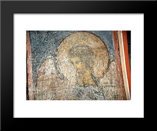 The Last Judgement Trumpeting Angel:  Modern Black Framed Art Print by Andrei Rublev