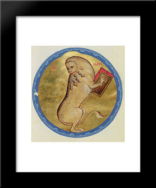 The Lion Of St. Marc:  Modern Black Framed Art Print by Andrei Rublev