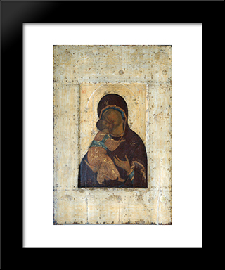 The Virgin Of Vladimir:  Modern Black Framed Art Print by Andrei Rublev