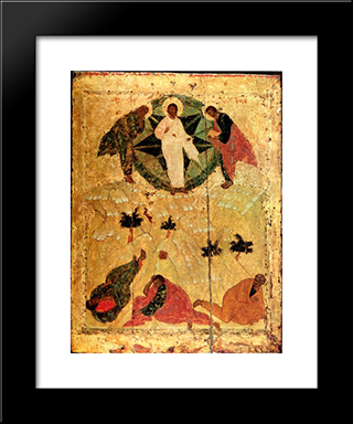 Transfiguration Of Jesus:  Modern Black Framed Art Print by Andrei Rublev