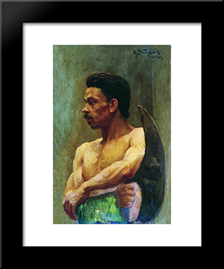 Beginner:  Modern Black Framed Art Print by Andrei Ryabushkin