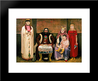 Family Of Merchant In Xvii Century:  Modern Black Framed Art Print by Andrei Ryabushkin