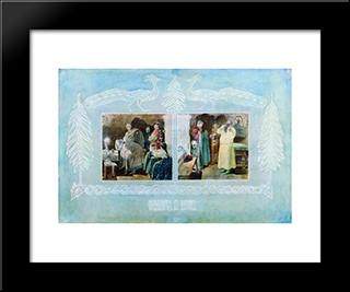 Going To Church:  Modern Black Framed Art Print by Andrei Ryabushkin