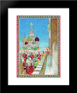 Illustration For The Coronation Album:  Modern Black Framed Art Print by Andrei Ryabushkin