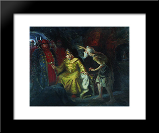 Ivan The Terrible:  Modern Black Framed Art Print by Andrei Ryabushkin