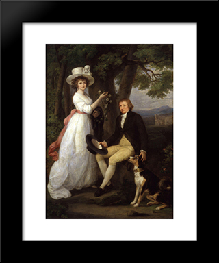 Anna Maria Jenkins And Thomas Jenkins:  Modern Black Framed Art Print by Angelica Kauffman