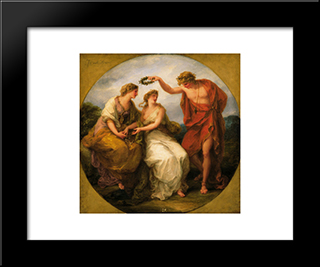 Beauty Directed By Prudence:  Modern Black Framed Art Print by Angelica Kauffman