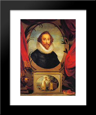 Ideal Portrait Of Shakespeare:  Modern Black Framed Art Print by Angelica Kauffman