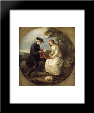 Insane Mary:  Modern Black Framed Art Print by Angelica Kauffman