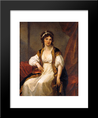 Portrait Of A Young Woman:  Modern Black Framed Art Print by Angelica Kauffman
