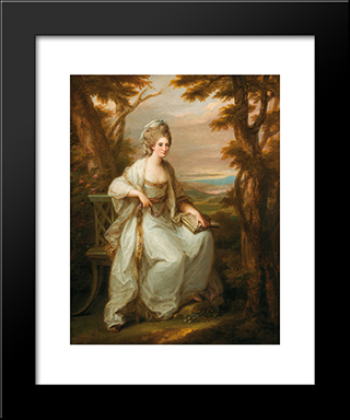 Portrait Of Anne Loudon, Lady Henderson Of Fordall:  Modern Black Framed Art Print by Angelica Kauffman