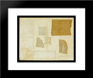 Gray Collage:  Modern Black Framed Art Print by Anne Ryan