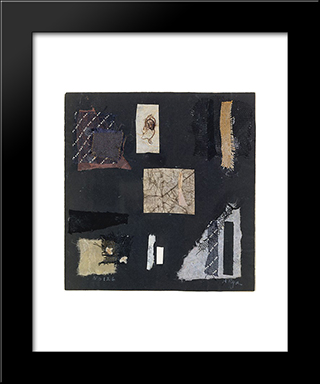 Number 126:  Modern Black Framed Art Print by Anne Ryan