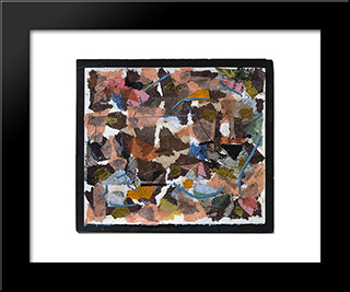 Number 319:  Modern Black Framed Art Print by Anne Ryan