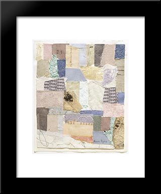 Number 334:  Modern Black Framed Art Print by Anne Ryan