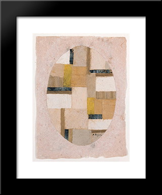 Number 456:  Modern Black Framed Art Print by Anne Ryan