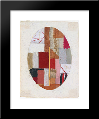 Number 57:  Modern Black Framed Art Print by Anne Ryan