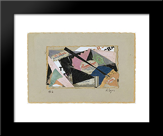 Number 6 Rumpelmayer:  Modern Black Framed Art Print by Anne Ryan