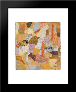 Number 650:  Modern Black Framed Art Print by Anne Ryan
