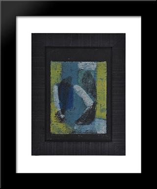 Pastorale:  Modern Black Framed Art Print by Anne Ryan
