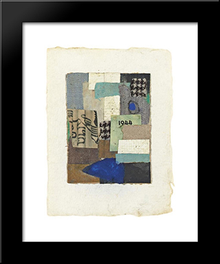 Untitled (No. 10):  Modern Black Framed Art Print by Anne Ryan