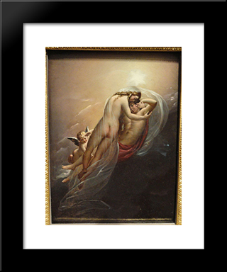 Aurora And Cephalus:  Modern Black Framed Art Print by Anne Louis Girodet