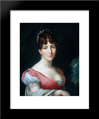 Hortense De Beauharnais:  Modern Black Framed Art Print by Anne Louis Girodet