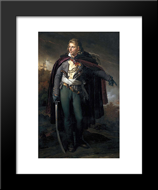 Jacques Cathelineau (1759-1793), Generalissime Vendeen:  Modern Black Framed Art Print by Anne Louis Girodet