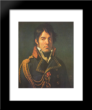 Le Baron Jean-Dominique Larrey:  Modern Black Framed Art Print by Anne Louis Girodet