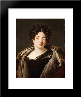 Portrait D'Odette Desiree Therese Godefroy De Suresnes:  Modern Black Framed Art Print by Anne Louis Girodet