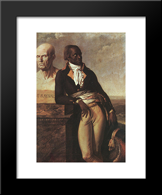 Portrait Of Jean-Baptiste Belley:  Modern Black Framed Art Print by Anne Louis Girodet