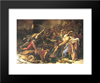 Revolt In Cairo (On) 21 October 1798:  Modern Black Framed Art Print by Anne Louis Girodet