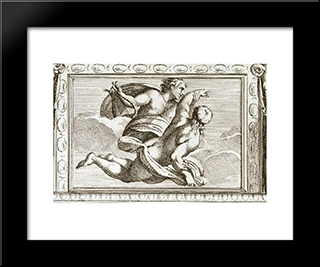 Apollo And Hyacinth:  Modern Black Framed Art Print by Annibale Carracci