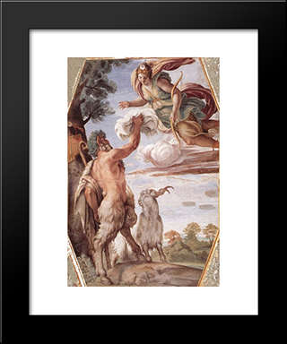 Hommage To Diana:  Modern Black Framed Art Print by Annibale Carracci