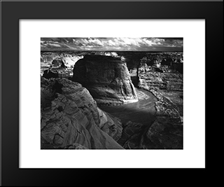 Canyon De Chelly:  Modern Black Framed Art Print by Ansel Adams