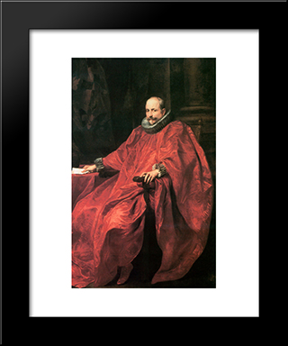Agostino Pallavicini:  Modern Black Framed Art Print by Anthony van Dyck