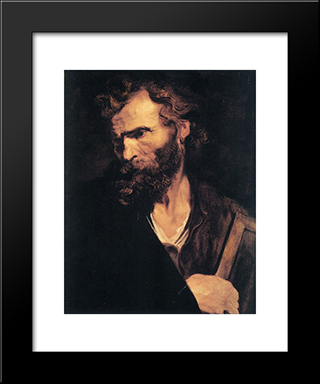 Apostle Jude:  Modern Black Framed Art Print by Anthony van Dyck